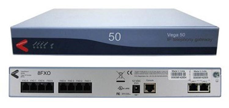 تصویر روبرو و پشت Sangoma Vega50-8FXO Gateway