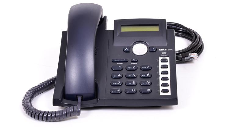 نمای روبرو Snom 300 IP Phone