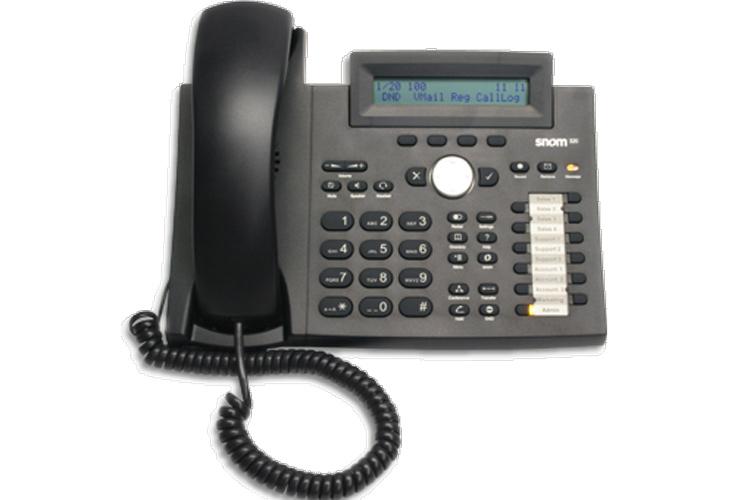 نمای روبرو Snom 320 IP Phone