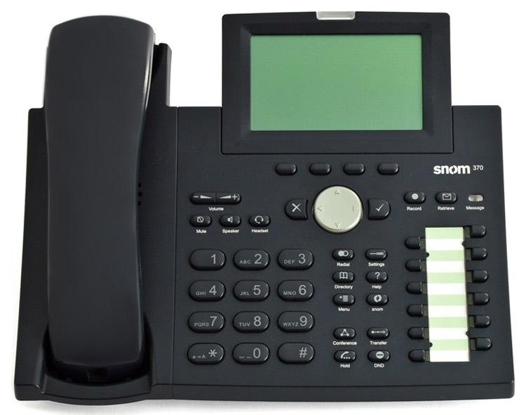 نمای روبرو Snom 370 IP Phone