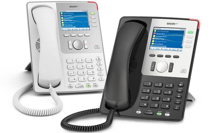 دو نمای روبرو و بغل Snom 870 IP Phone