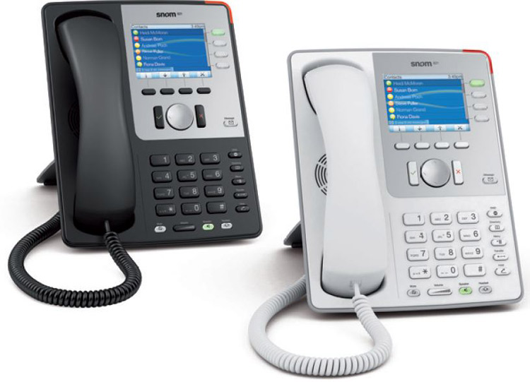 نمای سمت راست Snom 870 IP Phone