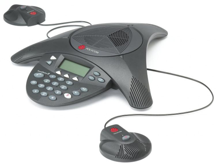 نمای روبرو همراه با بلندگو اضافه Polycom SoundPoint IP 6000