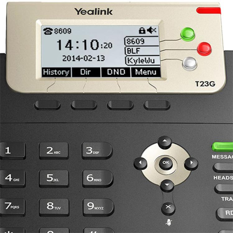 تصویر صفحه نمایش Yealink SIP-T23G IP Phone
