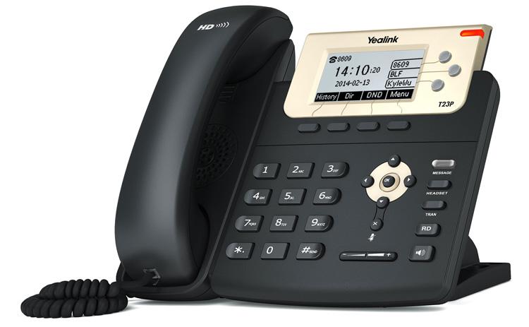 نمای سمت چپ Yealink SIP-T23P IP Phone