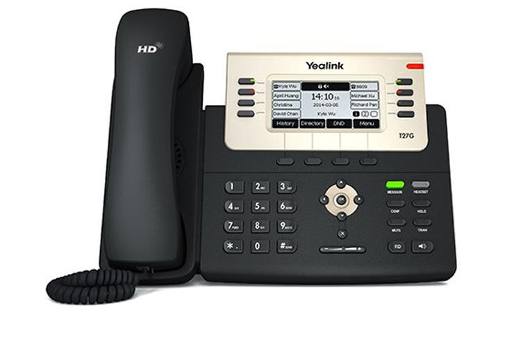 نمای روبرو Yealink SIP-T27P IP Phone