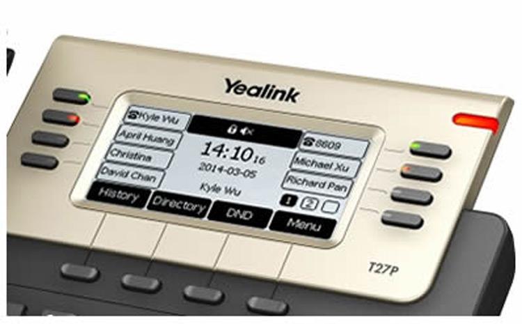 تصویر صفحه نمایش Yealink SIP-T27P IP Phone