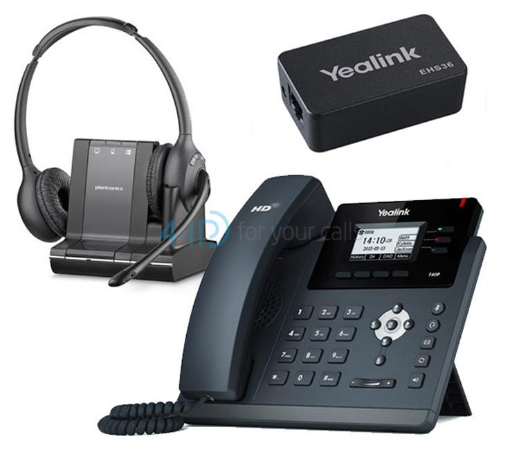 همراه با تجهیزات Yealink SIP-T40P IP Phone