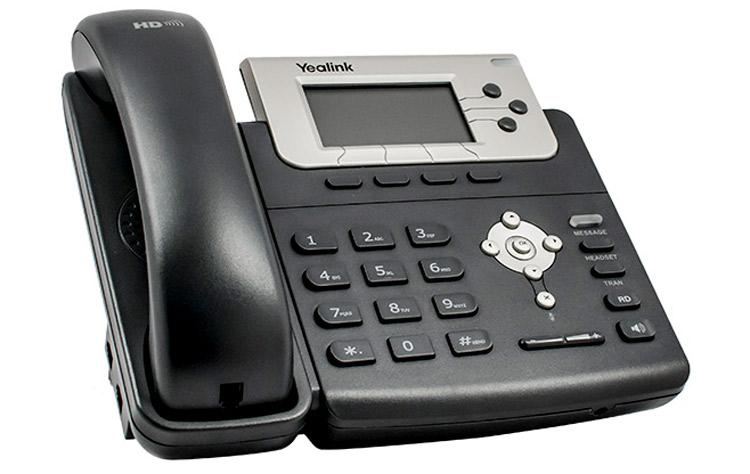 نمای بغل Yealink T22 IP Phone