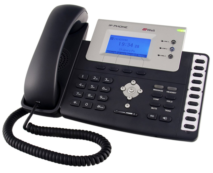 نمای جانبی Yealink T26P IP Phone