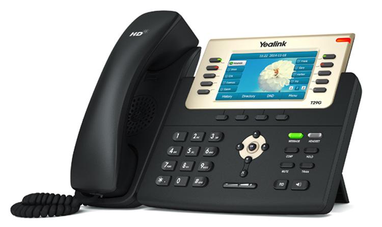 تصویر سمت چپ Yealink T29G IP Phone