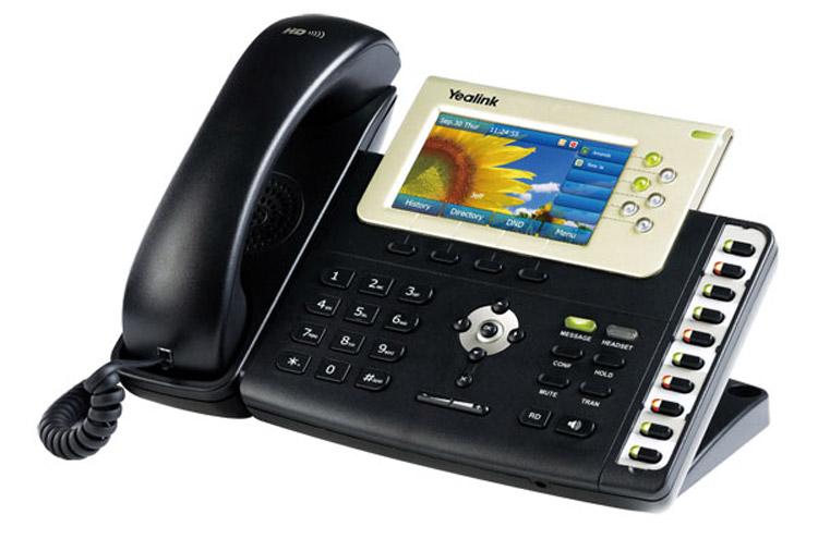 تصویر بغل سمت چپ Yealink T38G IP Phone