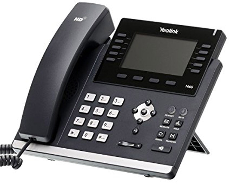نمای سمت چپ Yealink T46G IP Phone