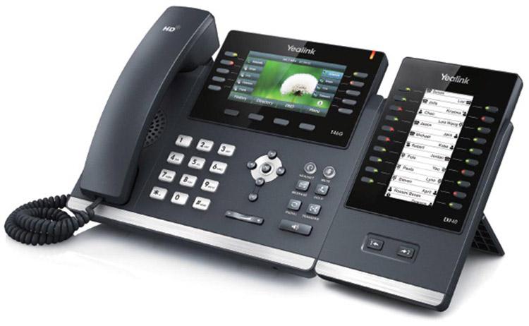 همراه با ماژول گسترش Yealink T46G IP Phone