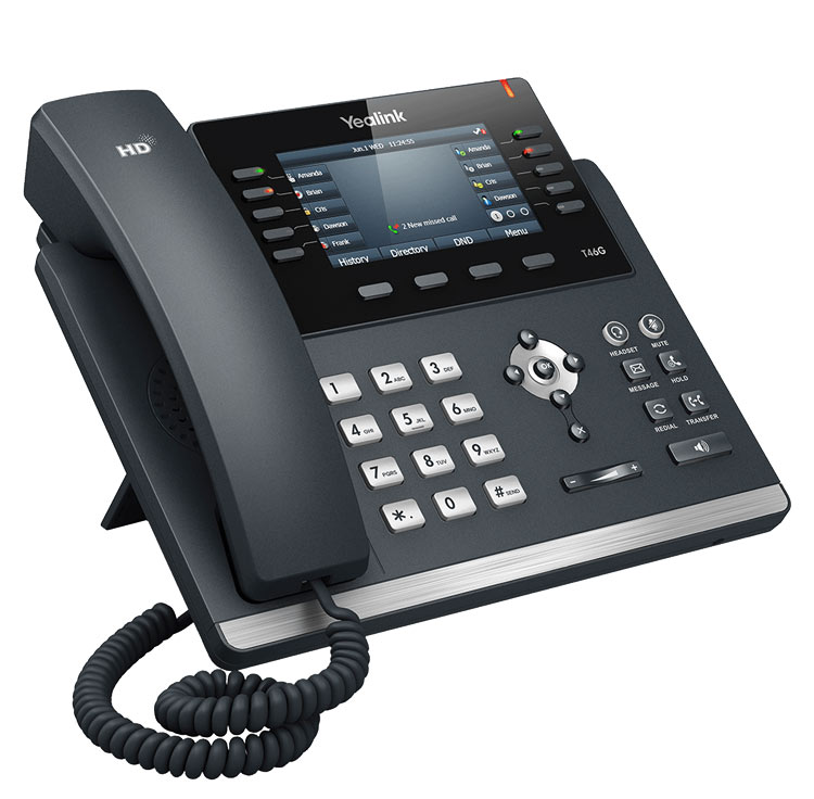 نمای بغل Yealink-T46S-IP-Phone-1