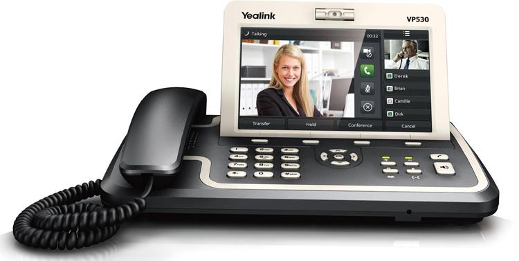 نمای روبرو Yealink VP530 Video IP Phone