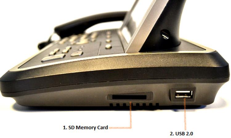 تصویر نمای جانبی Yealink VP530 Video IP Phone