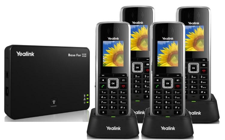 با چند گوشی برای اتصالات Yealink W52P Dect Phone Complete Set